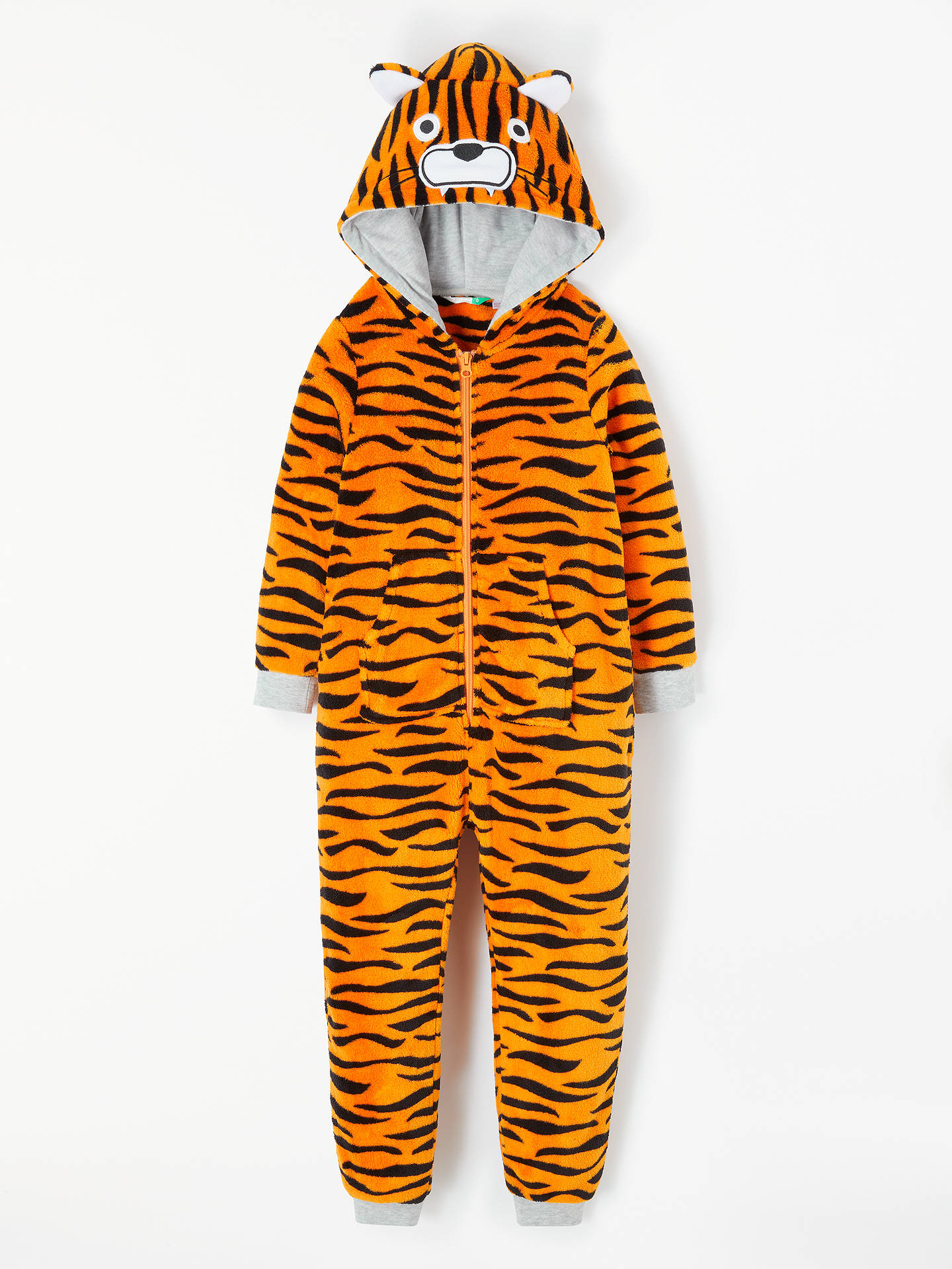 a8e0c5cb4500 Buy John Lewis   Partners Boys  Tiger Fleece Onesie