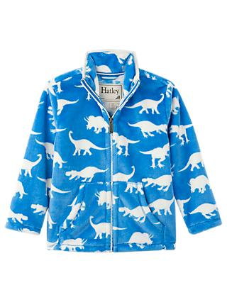 Hatley Boys' Roaming Dinosaurs Fleece Jacket, Blue
