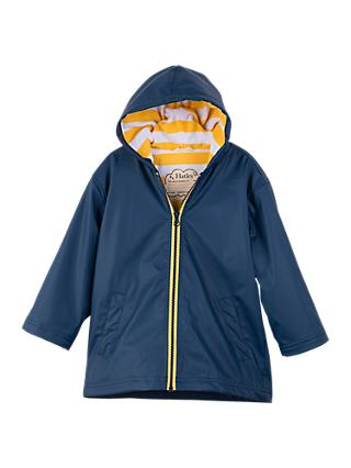 Hatley Boys' Splash Jacket, Navy/Yellow