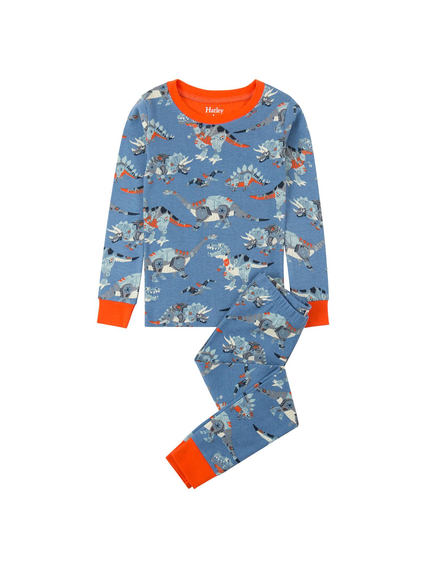 6c50221a3fb9b Buy Hatley Boys' Robotic Dinosaur Long Sleeve Pyjamas, Blue, 2 years Online  at