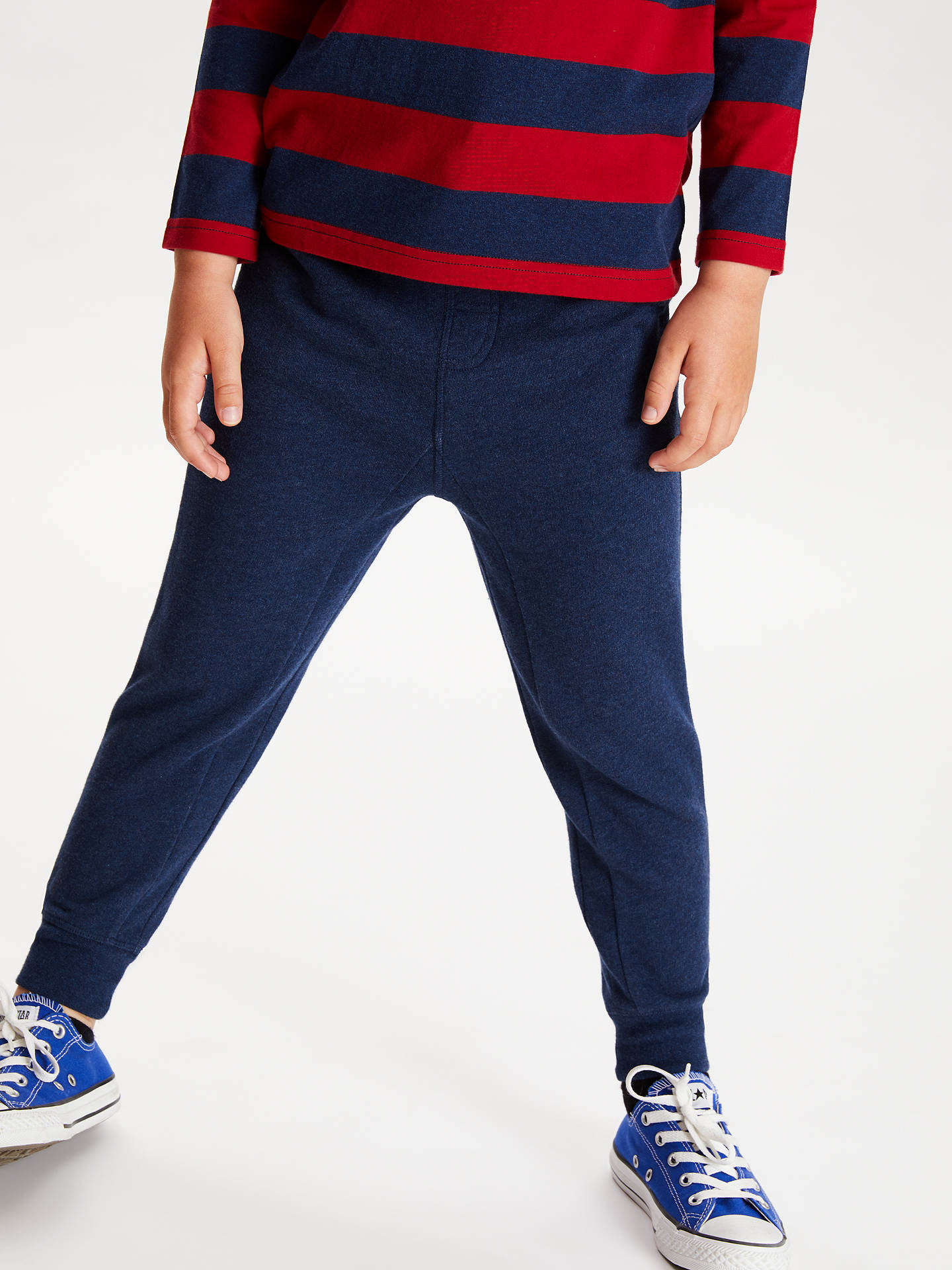 881637e2ccab92 Buy John Lewis & Partners Boys' Fashion Joggers, Navy, 2 years Online at ...