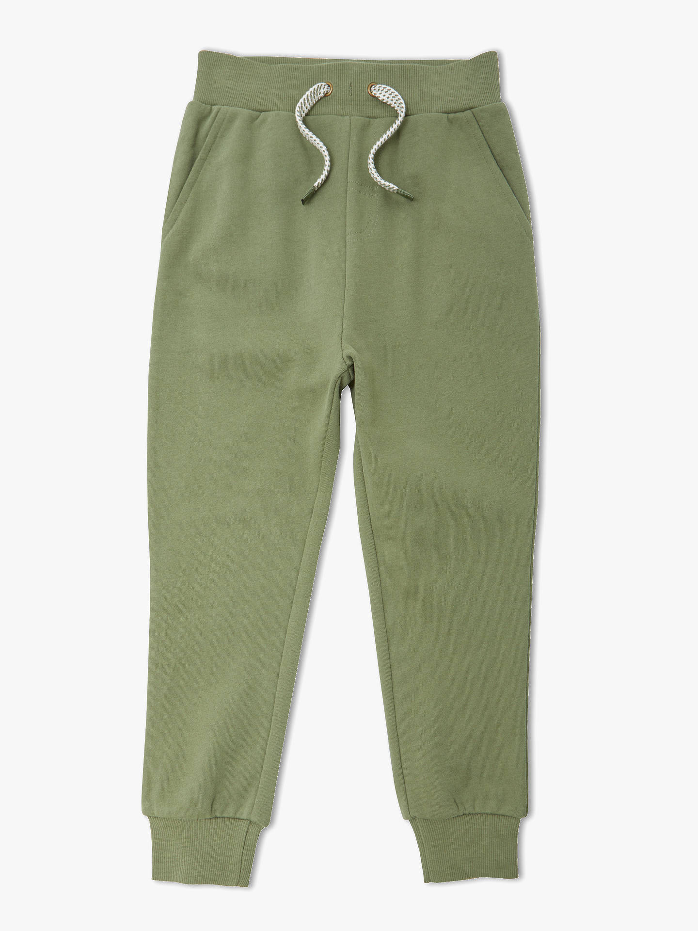 ae4fc172be6050 Buy John Lewis & Partners Boys' Fashion Joggers, Olive, 2 years Online at  ...