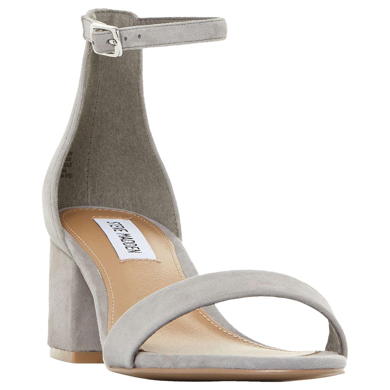 BuySteve Madden New Irenee Block Heel Sandals, Grey Suede, 3 Online at  johnlewis.
