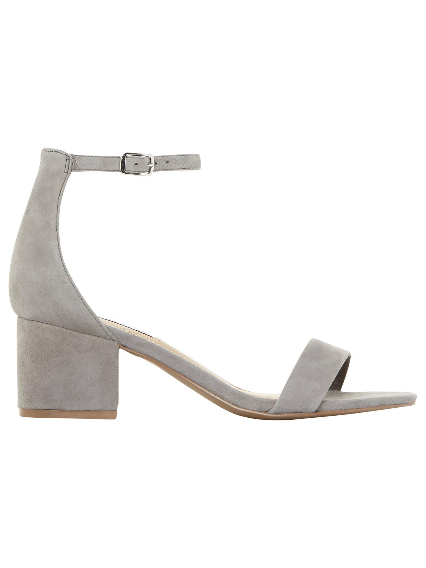 a5cfad0856 Buy Steve Madden New Irenee Block Heel Sandals, Grey Suede, 3 Online at  johnlewis ...
