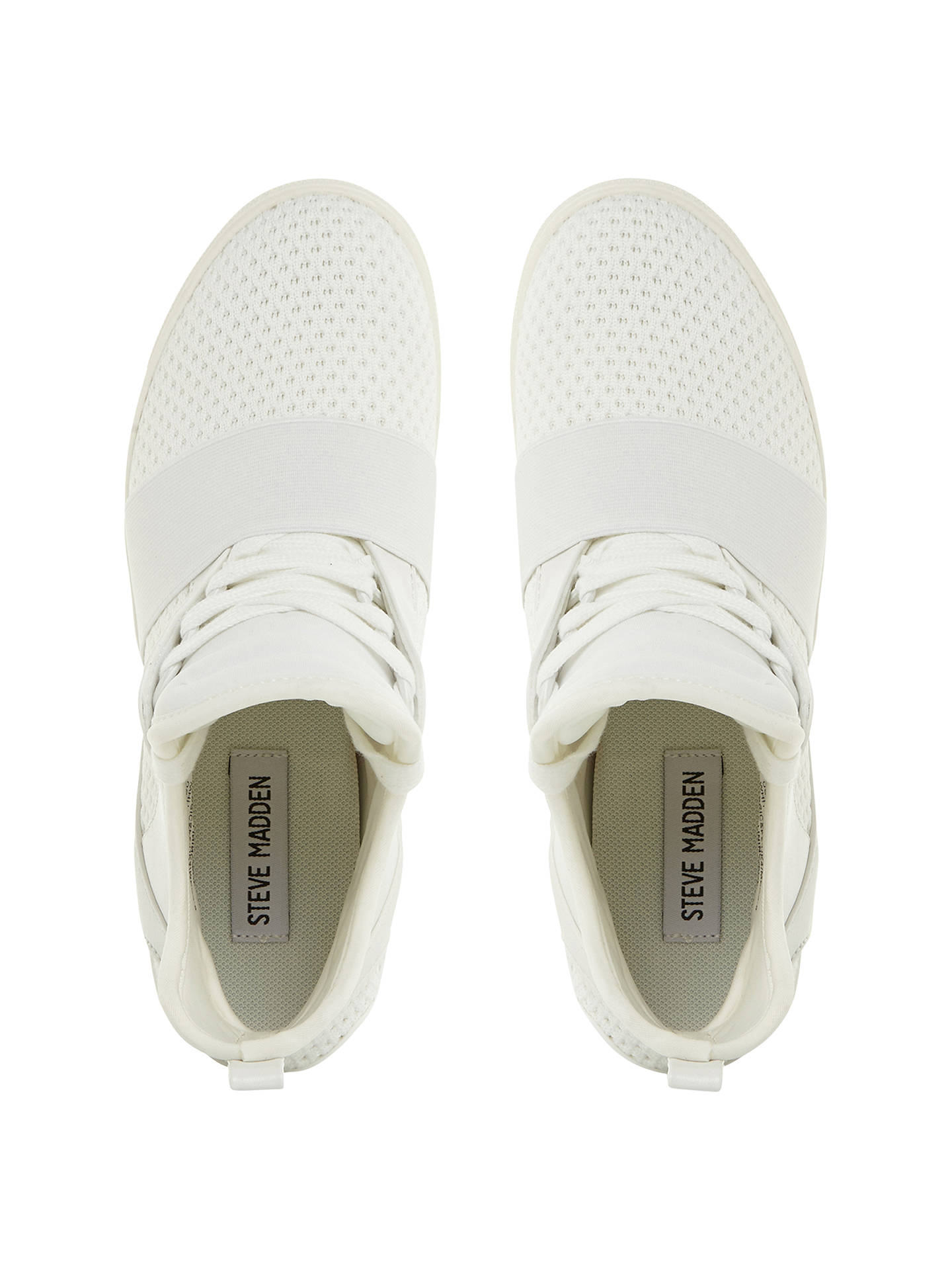 9dbabaae749 Steve Madden Lexi Concealed Wedge Trainers at John Lewis & Partners