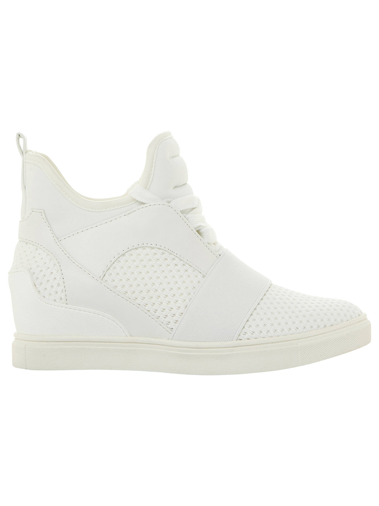 877f7429430 Steve Madden Lexi Concealed Wedge Trainers at John Lewis   Partners