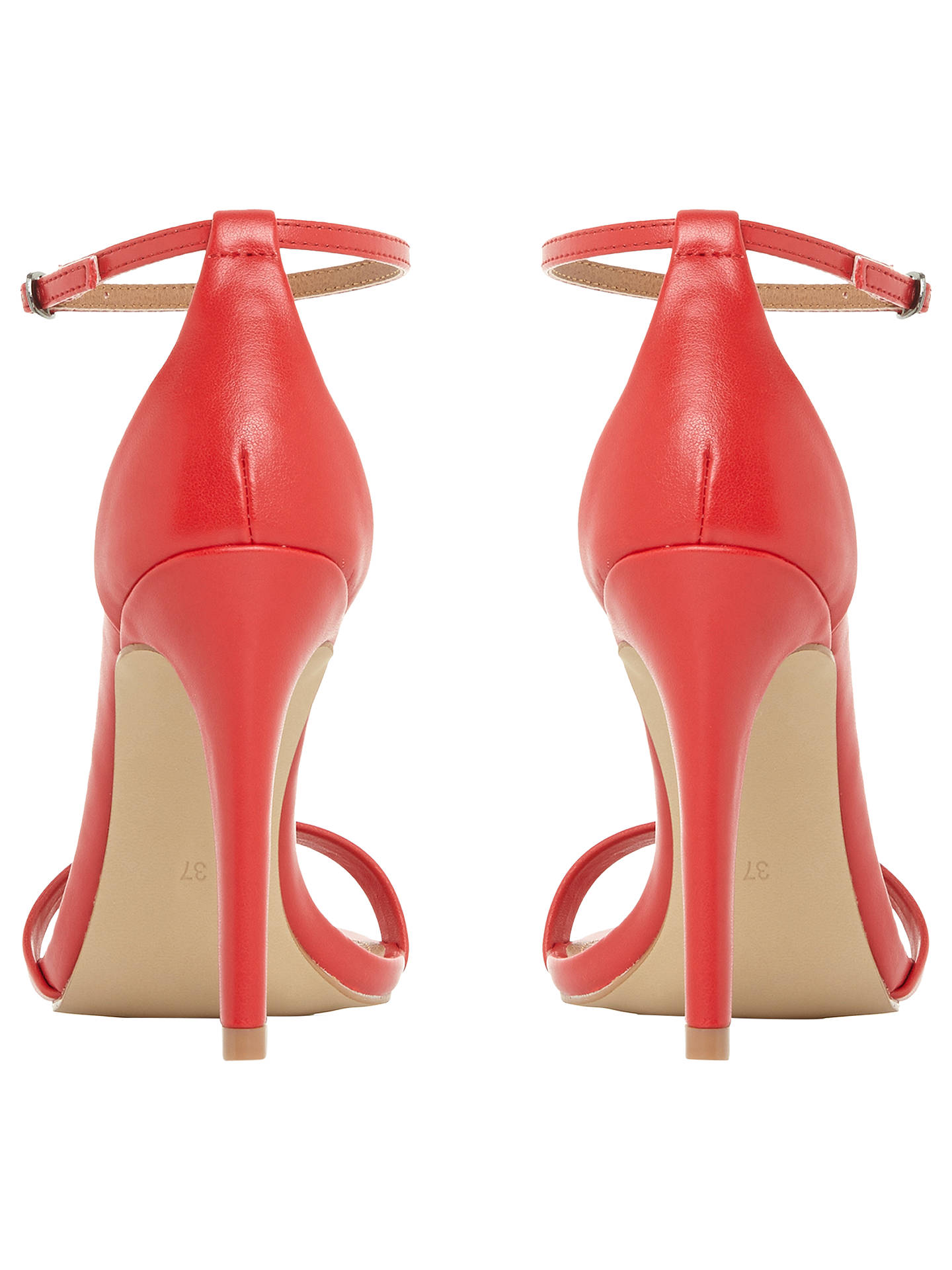 BuySteve Madden Stecy Stiletto Sandals, Red, 3 Online at johnlewis.com