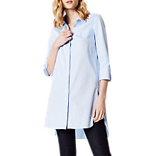 Buy Karen Millen Long Tunic Shirt, Pale Blue Online at johnlewis.com