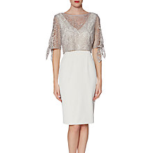 Buy Gina Bacconi Hilary Dress, Beige Online at johnlewis.com