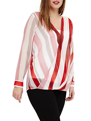 Studio 8 Effie Striped Top, Red/Multi