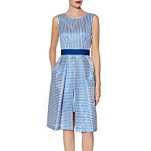 Buy Gina Bacconi Elena Stripe Dress, Blue Online at johnlewis.com