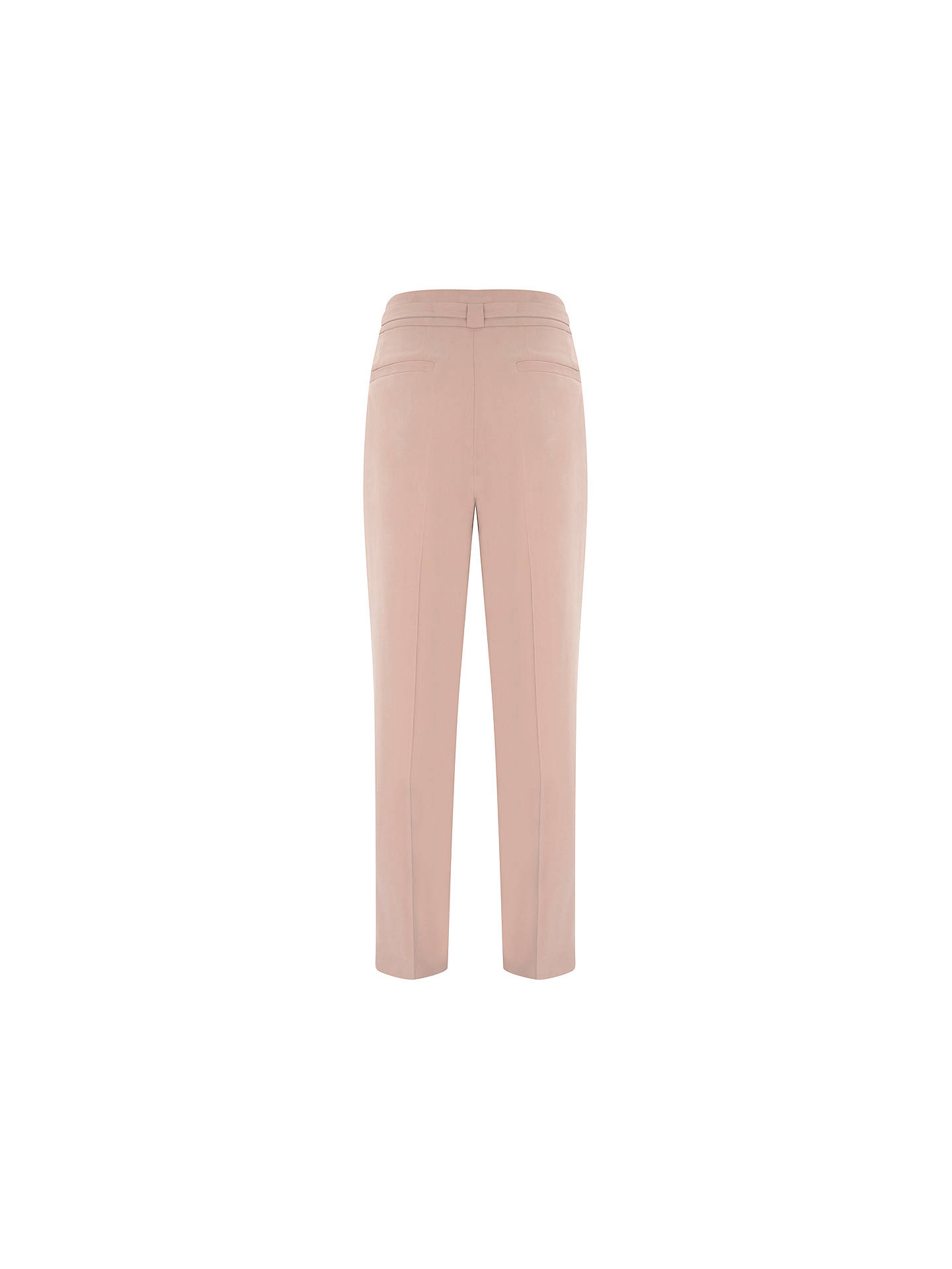 BuyMint Velvet Belted Tapered Trousers, Light Pink, 16L Online at johnlewis.com