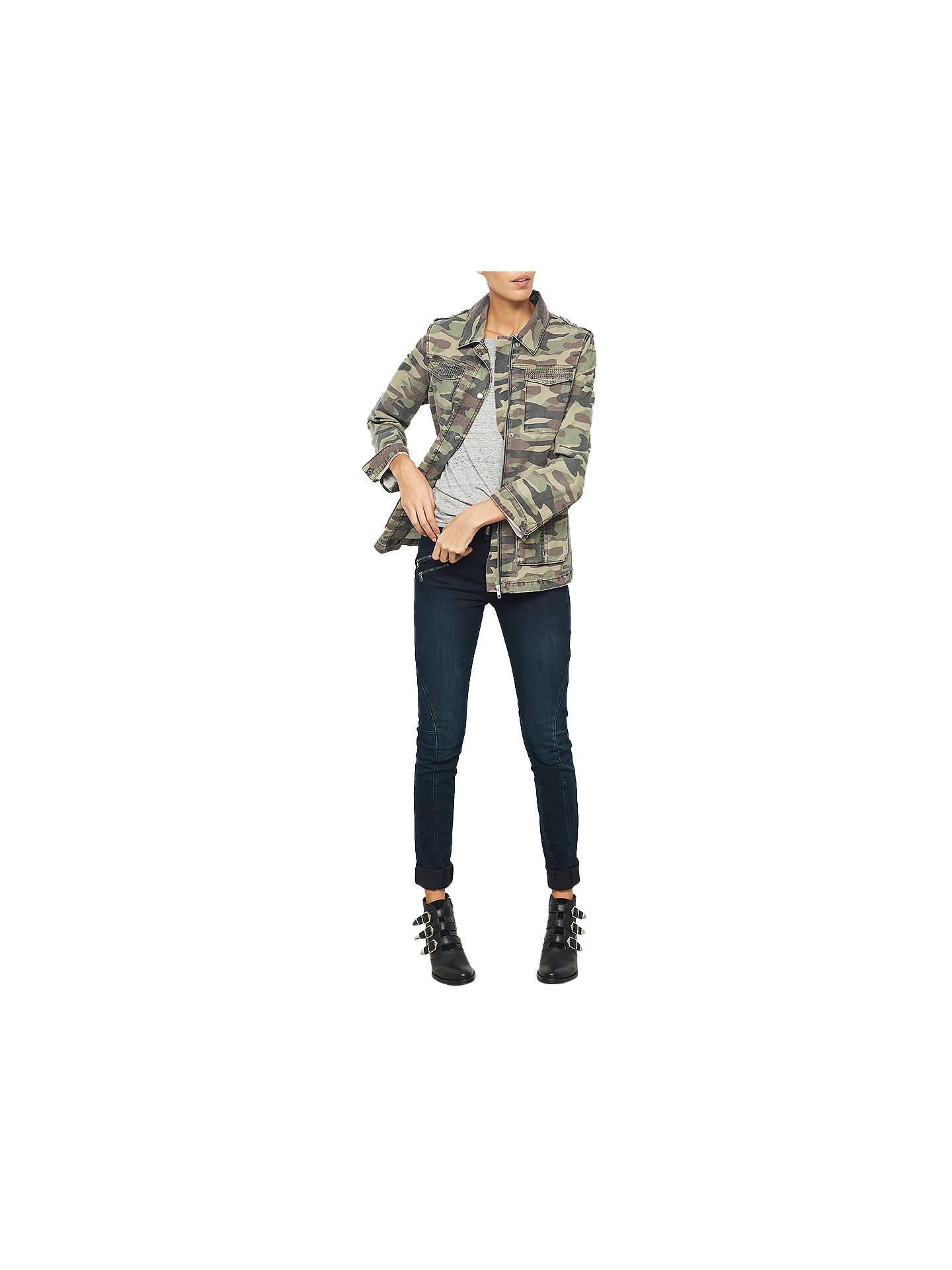 6337dd9062132 ... Buy Mint Velvet Camouflage Jacket, Green, 6 Online at johnlewis.com ...