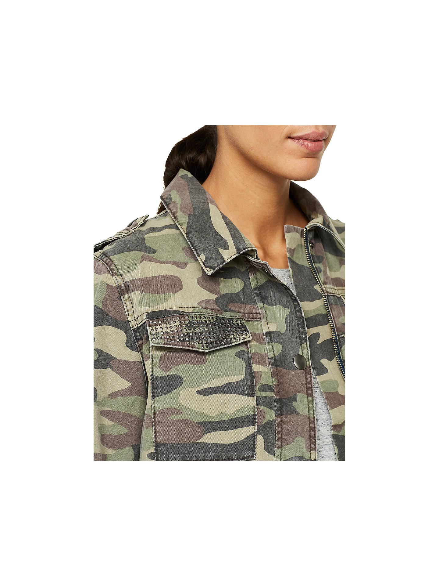 12b0935c28c7e ... Buy Mint Velvet Camouflage Jacket, Green, 6 Online at johnlewis.com