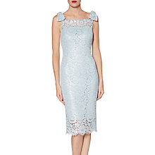 Buy Gina Bacconi Hazel Lace Bow Dress, Blue Pearl Online at johnlewis.com
