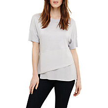 Buy Phase Eight Afra Asymmetric Hem Top, Grey Online at johnlewis.com