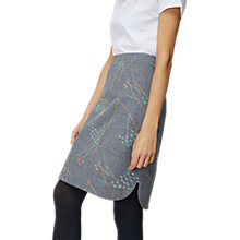 Buy White Stuff Meghan Print Embroidered Skirt, Grey Online at johnlewis.com