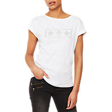 Buy Mint Velvet Star Outline T-Shirt, Ivory Online at johnlewis.com