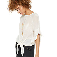 Buy Mint Velvet Embroidered Feather Top, Ivory Online at johnlewis.com