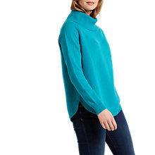 Buy White Stuff Shore Curved Hem Jumper, Teal Online at johnlewis.com