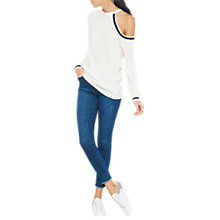 Buy Mint Velvet Cold Shoulder Knit Jumper, Ivory Online at johnlewis.com