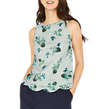Buy Oasis Butterfly Scallop Shell Top, Multi Online at johnlewis.com