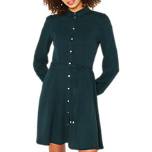 Buy Oasis Skater Shirt Dress, Deep Green Online at johnlewis.com