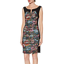 Buy Gina Bacconi Fearne Abstract Floral Dress, Multi Online at johnlewis.com