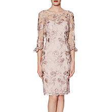 Buy Gina Bacconi Denise Dress, Pink Gold Online at johnlewis.com