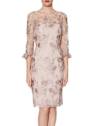 Gina Bacconi Denise Dress Pink Gold