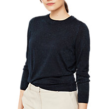 Buy Mint Velvet Metallic Fleck Jumper, Navy Online at johnlewis.com