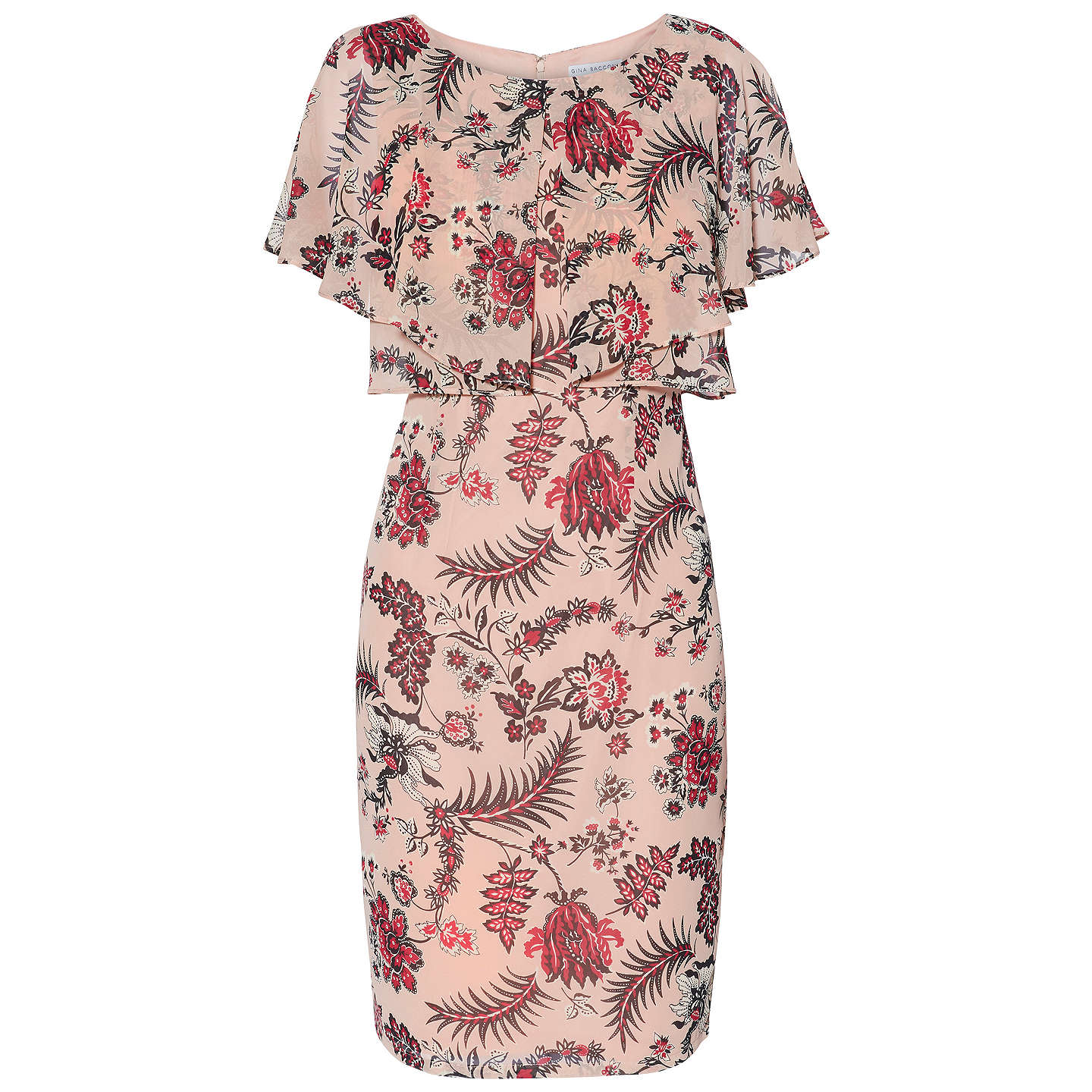 BuyGina Bacconi Maeve Print Dress, Pink, 10 Online at johnlewis.com