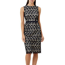 Buy Hobbs Keeley Dress, Navy/Nude Online at johnlewis.com