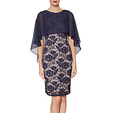 Buy Gina Bacconi Minnie Floral Embroidery Dress, Navy Online at johnlewis.com