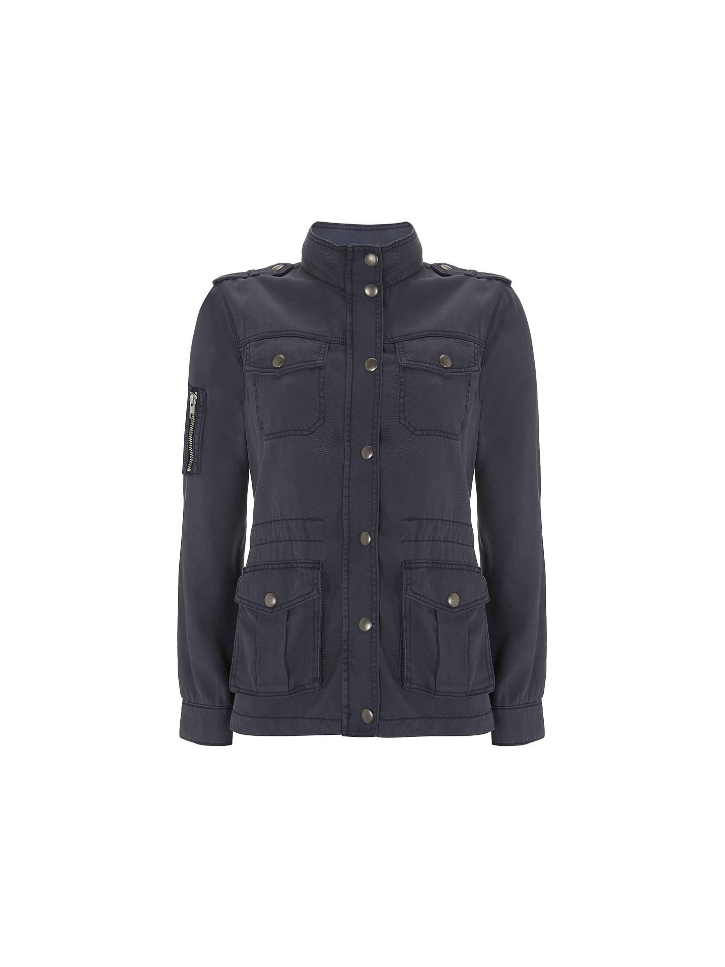7dfbbec88ccf8 Buy Mint Velvet Washed Indigo Four Pocket Jacket, Blue, 6 Online at  johnlewis.