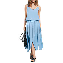 Buy hush Pleat Panel Dress, Baby Blue Online at johnlewis.com