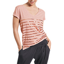 Buy hush Striped T-Shirt, Blush Online at johnlewis.com