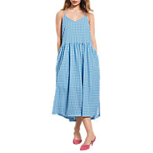 Buy hush Tori Gingham Dress, French Blue/White Online at johnlewis.com