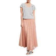 Buy hush Star Embroidered Skirt, Blush Online at johnlewis.com