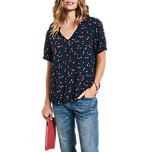 Buy hush Molly Lace Trim Top, Leaf Midnight/Guava Online at johnlewis.com