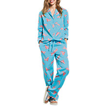 Buy hush Tiger Cotton Pyjama Set, Radiance/Coral Online at johnlewis.com
