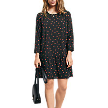 Buy hush Nancy Dress, Sunstar Black/Picante Online at johnlewis.com