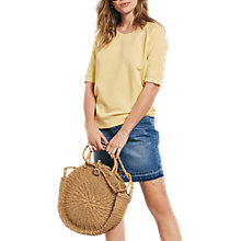Buy hush Washed Sloppy Joe Sweat Top, Mellow Yellow Online at johnlewis.com