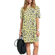 Buy hush Layla Dress, Woodblock Yellow Online at johnlewis.com
