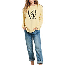 Buy hush Washed Love Sweatshirt, Yellow/Asphalt Online at johnlewis.com