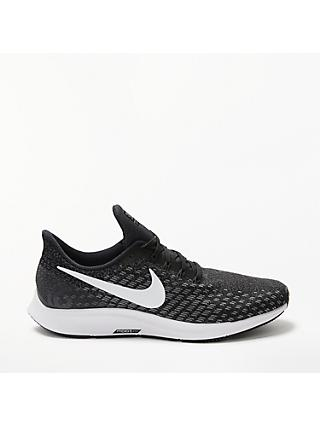 Nike Air Zoom Pegasus 35 Women's Running Shoes, Black/White/Gunsmoke