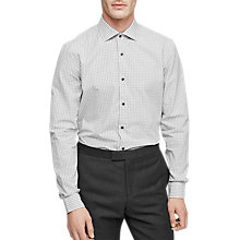 Buy Reiss Samphe Gingham Slim Fit Shirt, Grey Online at johnlewis.com