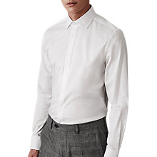 Buy Reiss Laurel Twill Regular Fit Shirt, White Online at johnlewis.com