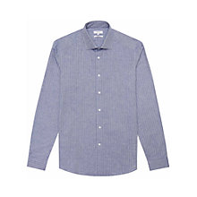 Buy Reiss Herringbone Shirt, Soft Blue Online at johnlewis.com