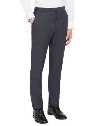 Buy Ted Baker Annetot Semi Plain Wool Tailored Suit Trousers, Blue, 32S Online at johnlewis.com